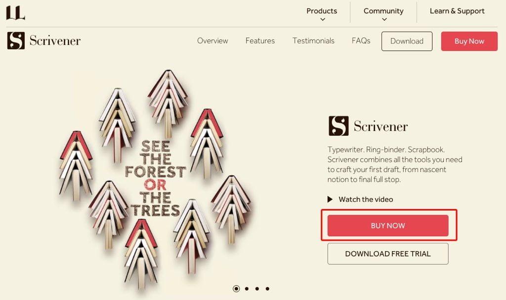 Scrivener3Webサイト