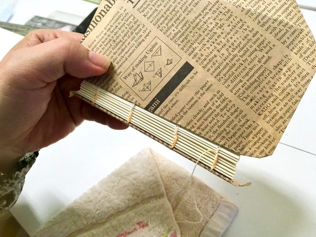 糸かがり手製本ワークショップの糸かがり