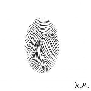 一文物語365の挿絵:指紋