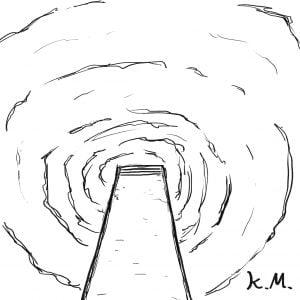一文物語365の挿絵:飛び込み台