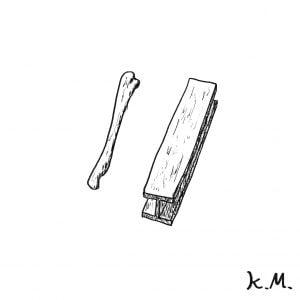 一文物語365の挿絵:骨と鉄