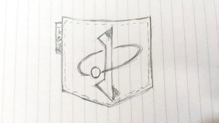 新しい一文物語「ポケットに入る宇宙の一文散系」のロゴラフ
