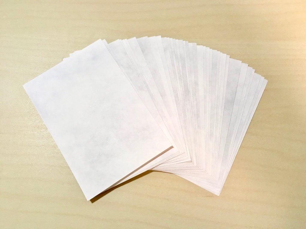 糸かがり手製本一文物語365舞の見返しの紙