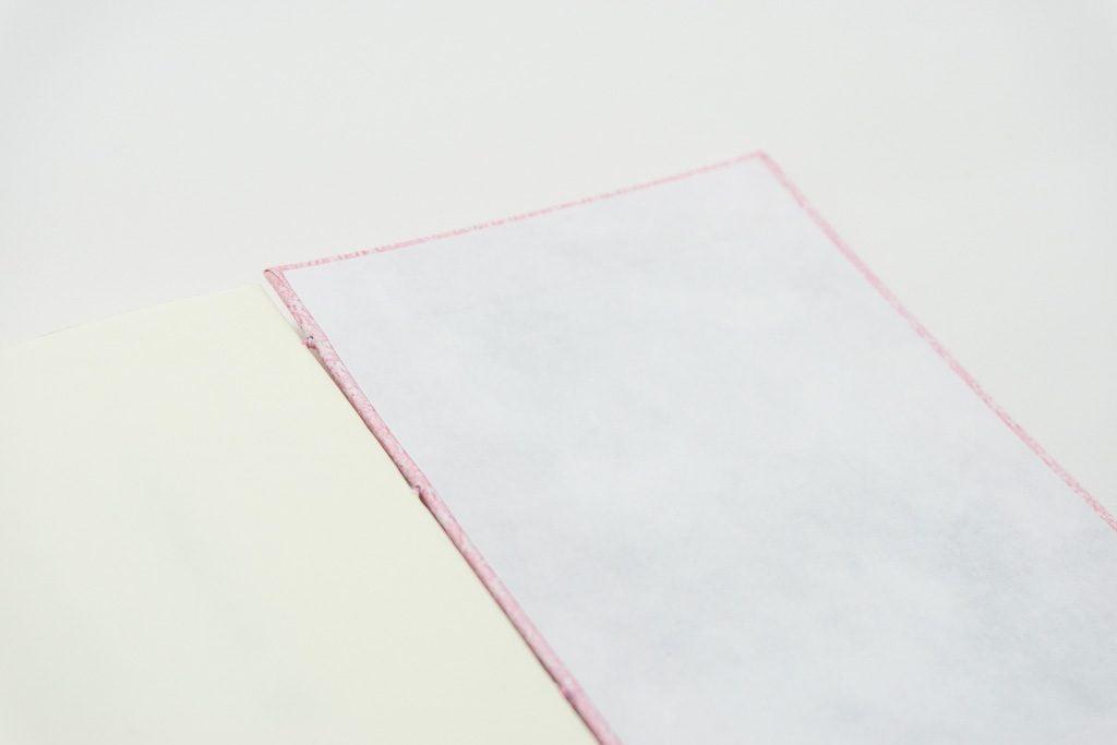 糸かがり手製本はん・ぶんこ一文物語365 舞の表紙内側見返し
