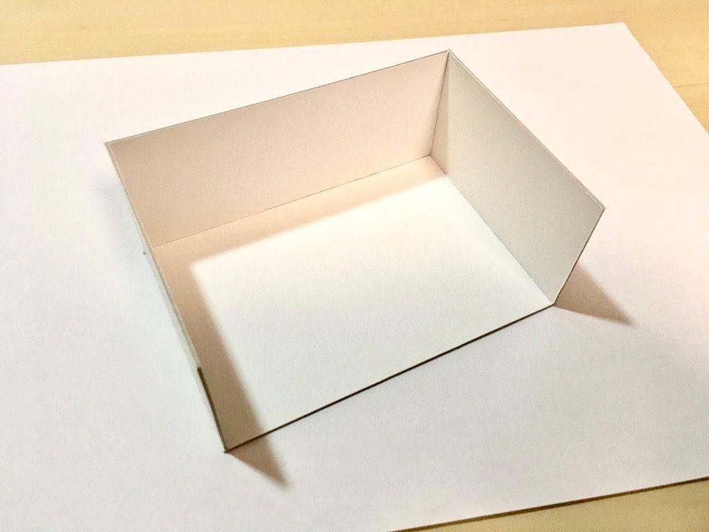 糸かがり手製本はん・ぶんこ3冊収納BOXの厚紙組み立て