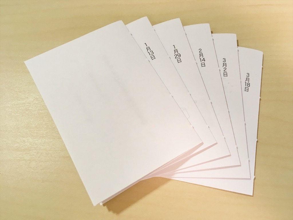 手製本の本文用紙を切って冊子にしたもの