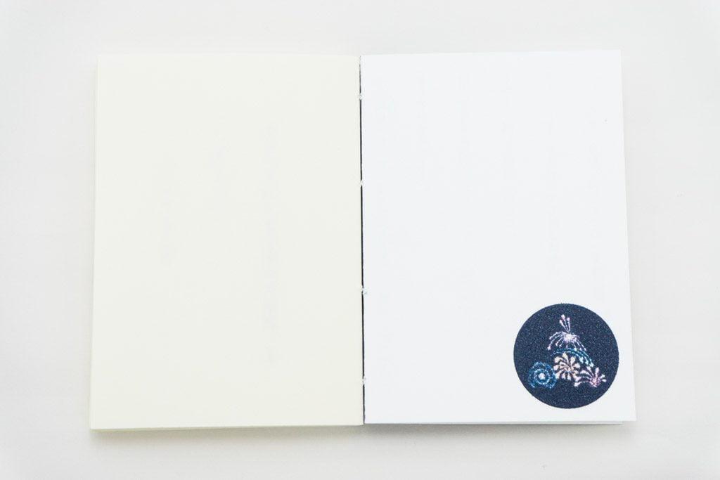 手製本「ポケットに入る宇宙の万華鏡 上 ckip-2018-vol.1」の表紙裏側