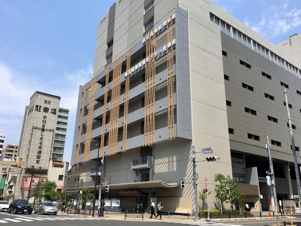都立産業貿易センター台東館の外観