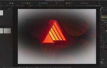 Affinity Publisher Beta版のロゴと表示画面