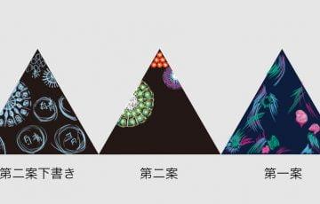 新作一文物語手製本「ポケットに入る宇宙の万華鏡 中」の表紙制作、万華鏡モチーフ案