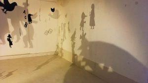 Pinocchio展 Grimn Twinsの影絵インスタレーション