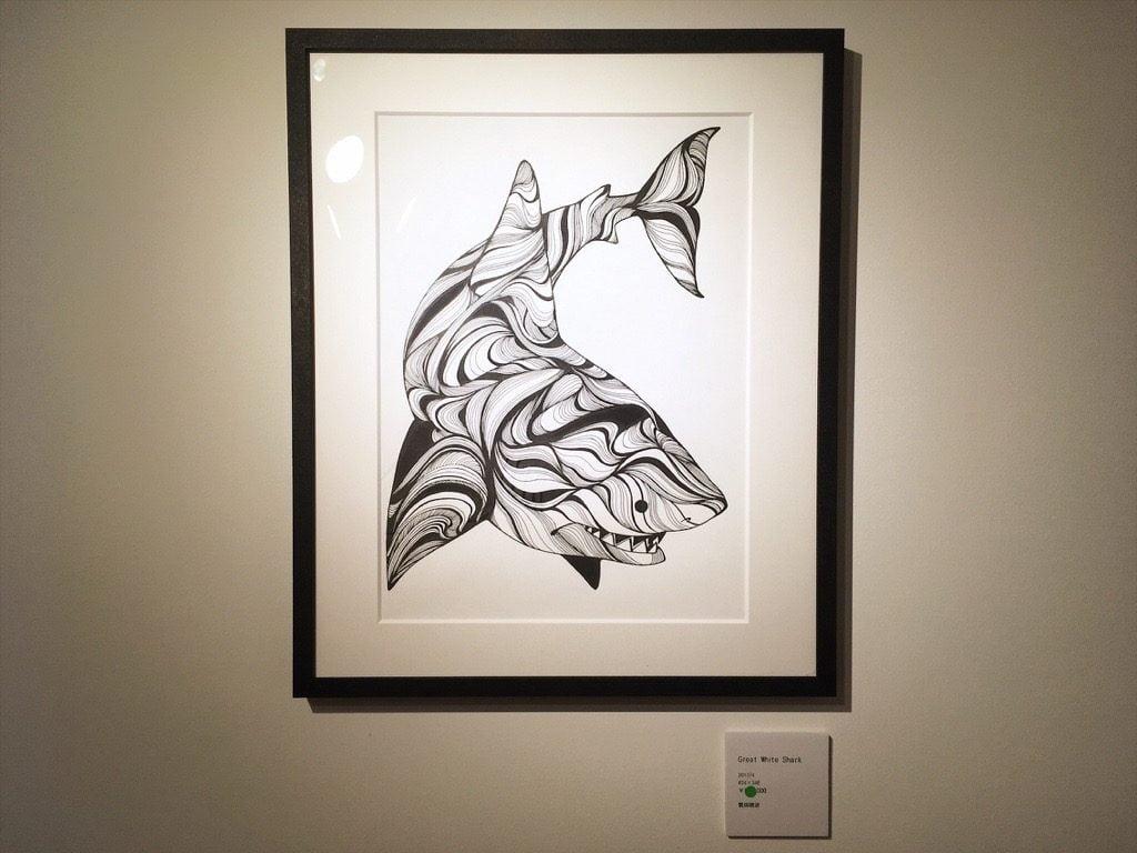 繁田穂波初個展の展示サメ