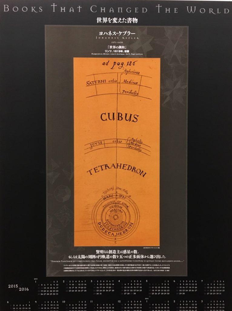 [世界を変えた書物]展のヨハネス・ケプラーの「世界の調和」図