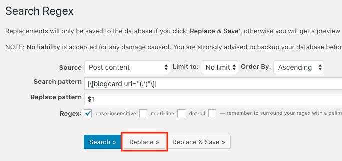 Search Regexの置換ボタン