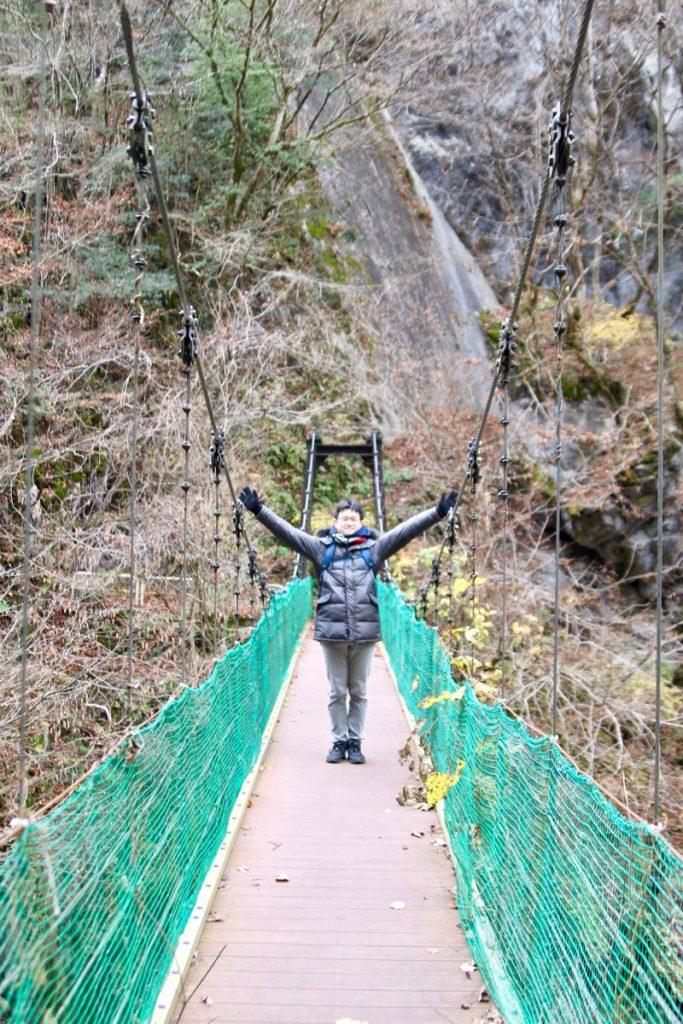 奥多摩にある吊り橋