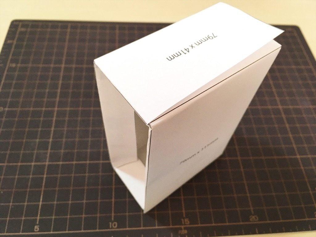 ポケットに入る宇宙の万華鏡BOXの外装型紙テスト