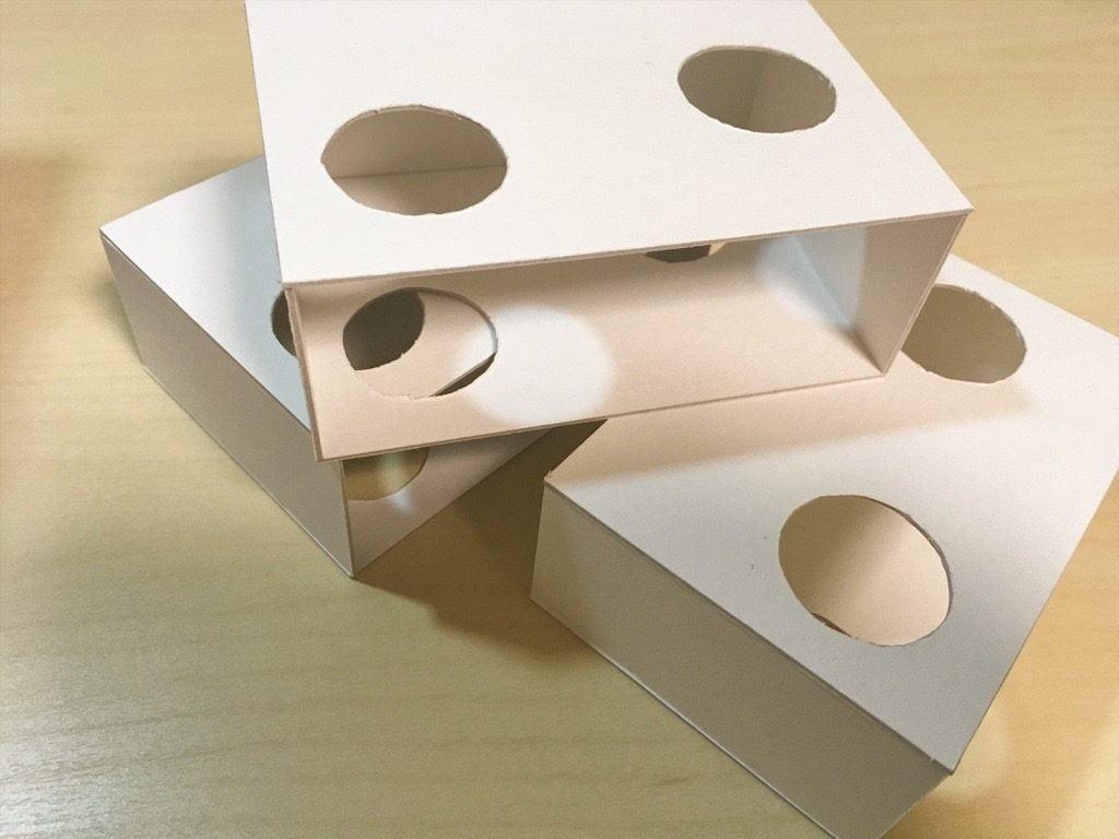 「ポケットに入る宇宙の万華鏡」の箱を組み立てたところ