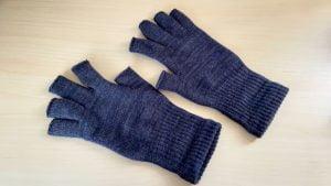 指先の空いた手袋ハンドウォーマー 厚手MAX (男性用):841(やよい)冷えとり靴下専門店